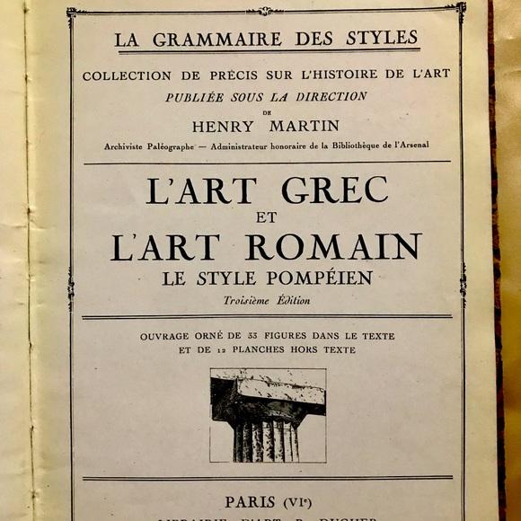 L'Art Grec Et L' Art Romain - Le Style Pompeien